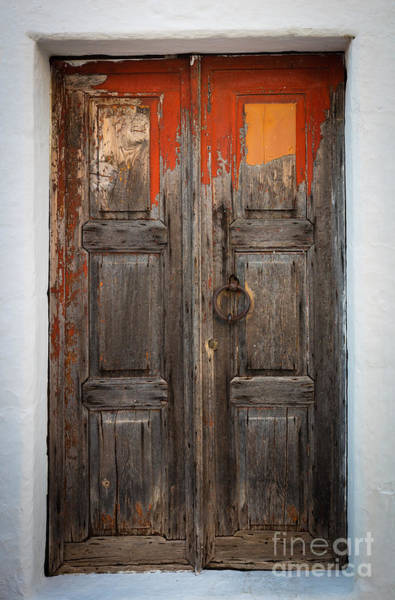 Aegean Photograph - Chora Door by Inge Johnsson