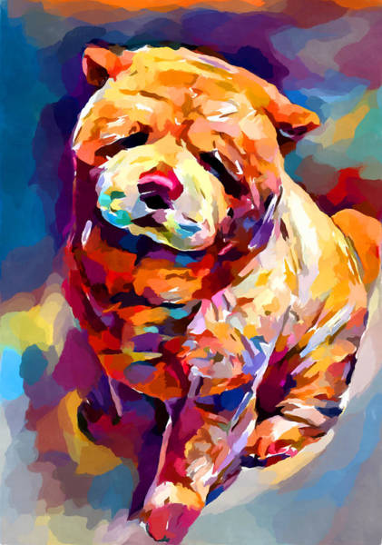 Wall Art - Painting - Chow Chow 2 by Chris Butler