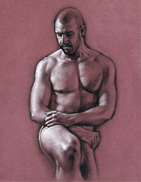 Male Nude Drawing - Chris 2 by Chris Lopez
