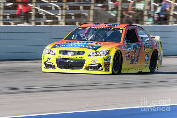 Photograph - Chris Buescher Running At Texas Motor Speedway by Paul Quinn