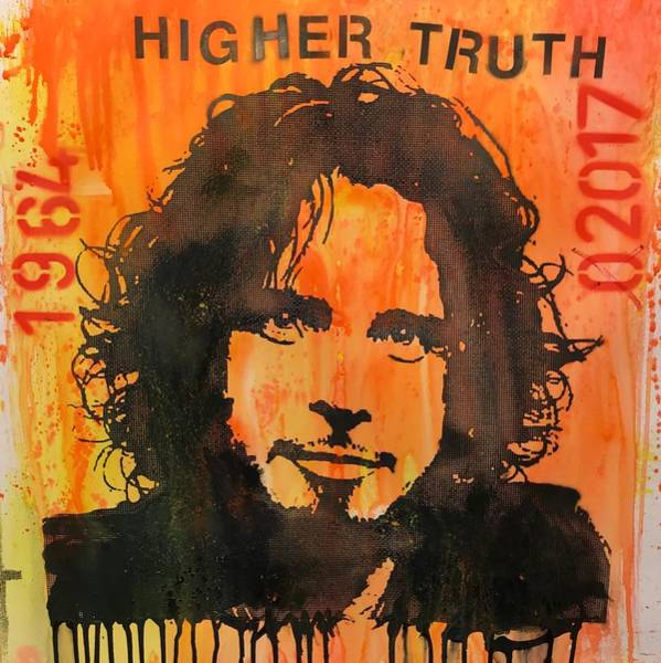 Wall Art - Painting - Chris Cornell Higher Truth by Dean Russo Art