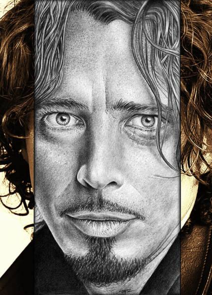 Garden Drawing - Chris Cornell Drawing by Jeffrey St Romain