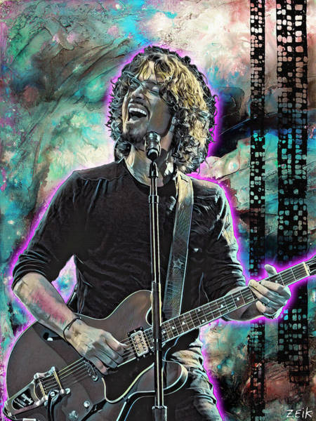 Obey Painting - Chris Cornell - Outshined by Bobby Zeik