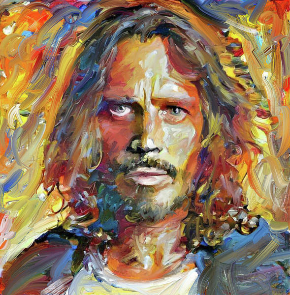 Excellent Wall Art - Digital Art - Chris Cornell Tribute 2017 Portrait by Yury Malkov