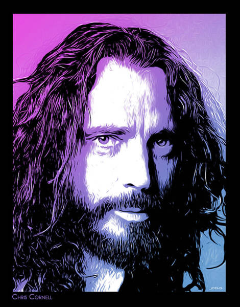 Landmarks Digital Art - Chris Cornell Tribute by Greg Joens