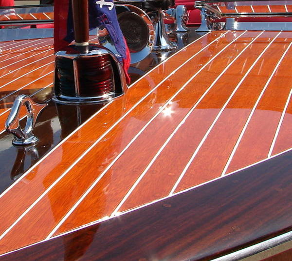 Motor Boat Photograph - Chris Craft Bow by Michelle Calkins