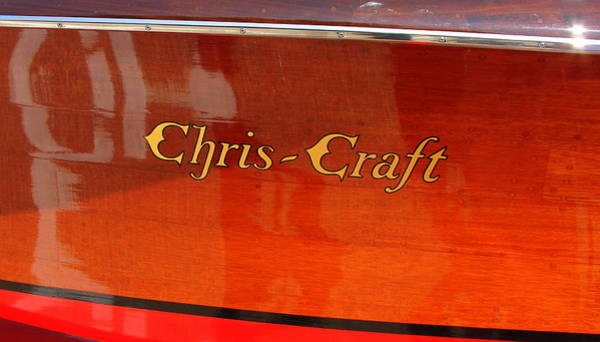 Motor Boat Photograph - Chris Craft Logo by Michelle Calkins