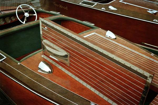Photograph - Chris Craft With Hatch And Steering Wheel by Michelle Calkins
