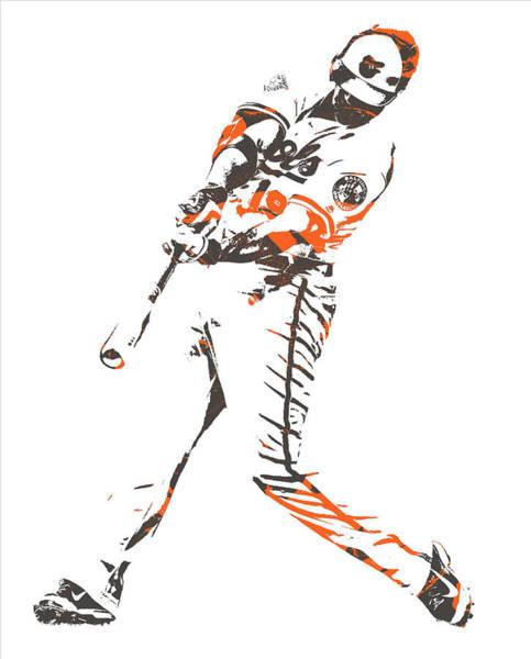 Orioles Wall Art - Mixed Media - Chris Davis Baltimore Orioles Pixel Art 11 by Joe Hamilton