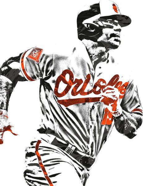 Orioles Wall Art - Mixed Media - Chris Davis Baltimore Orioles Pixel Art by Joe Hamilton
