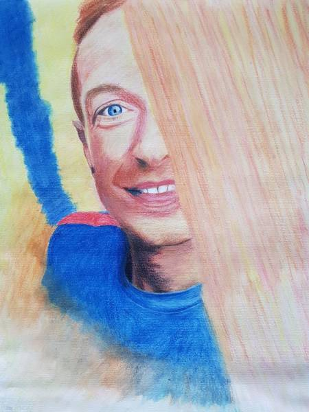 Drawing - Chris Martin by Cassy Allsworth