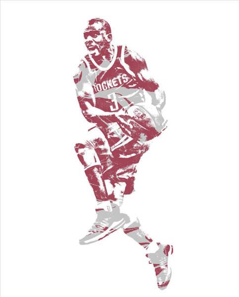Wall Art - Mixed Media - Chris Paul Houston Rockets Pixel Art 35 by Joe Hamilton