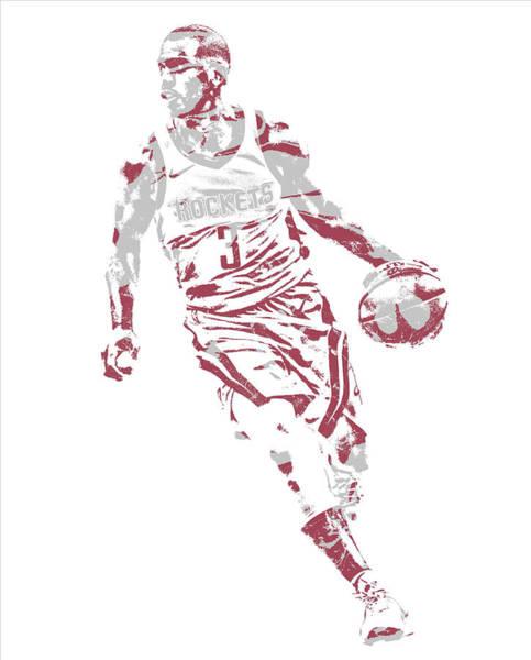Wall Art - Mixed Media - Chris Paul Houston Rockets Pixel Art 36 by Joe Hamilton