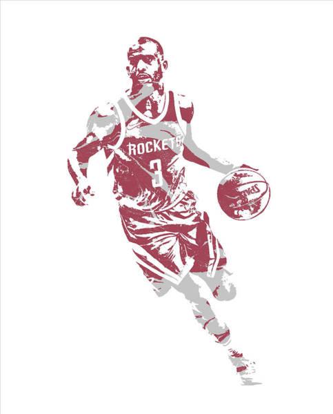 Wall Art - Mixed Media - Chris Paul Houston Rockets Pixel Art 60 by Joe Hamilton