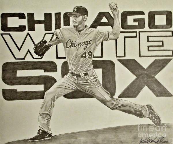 Drawing - Chris Sale by Melissa Jacobsen