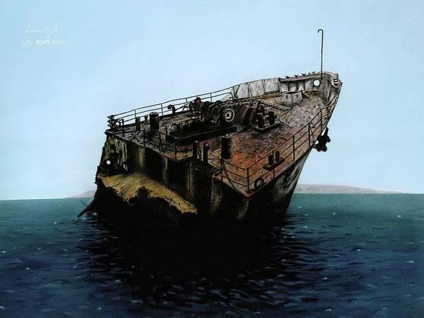 Shipwreck Digital Art - Chrisoula K by Andrea Gatti