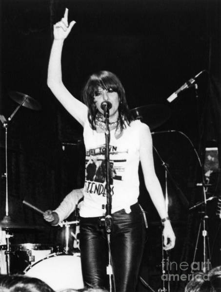 New Wave Music Photograph - Chrissie Hynde 1980 San Francisco by Joyce Weir