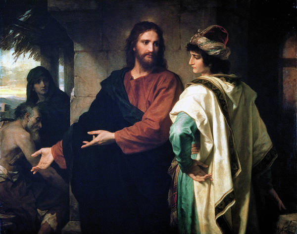 Painting - Christ And The Rich Young Ruler by Heinrich Hofmann