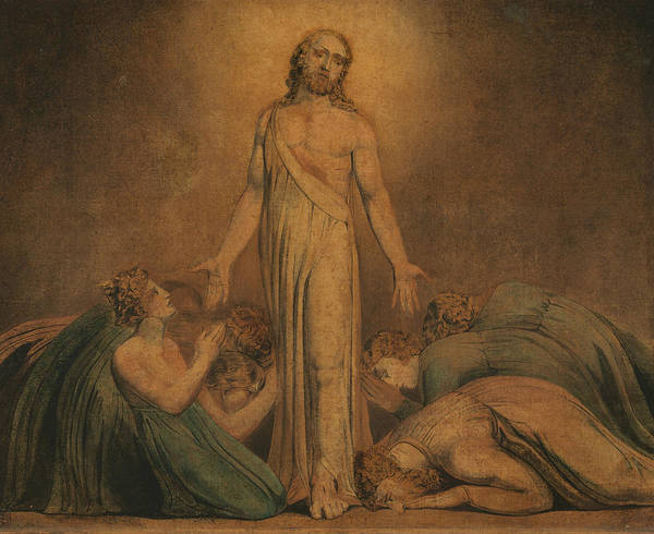 Painting - Christ Appearing To The Apostles After The Resurrection by William Blake