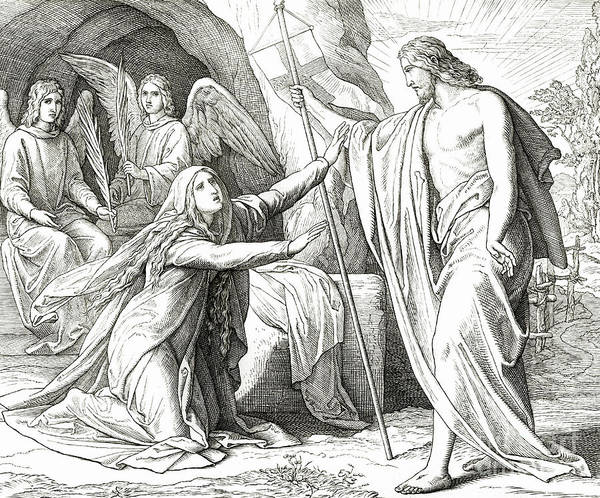Miracle Drawing - Christ Appears To Mary Magdalene by Julius Schnorr von Carolsfeld