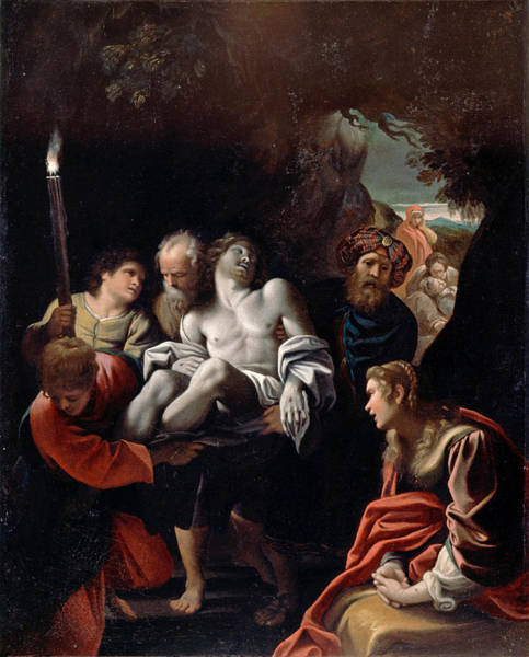 Buried Painting - Christ Carried To The Tomb 2 by Sisto Badalocchio