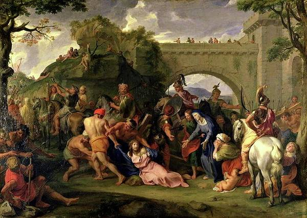 Painting - Christ Carrying The Cross by Charles le Brun