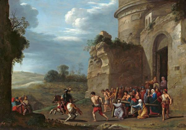 Painting - Christ Carrying The Cross by Cornelis van Poelenburch