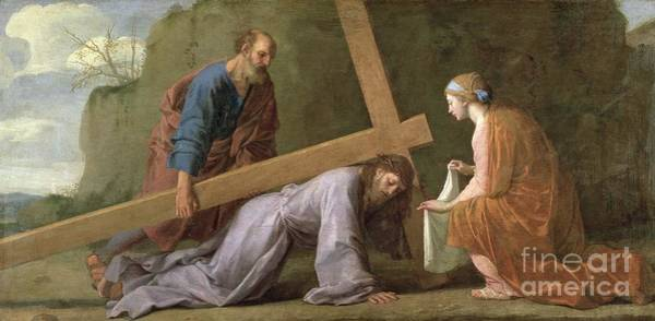 Collapse Painting - Christ Carrying The Cross by Eustache Le Sueur