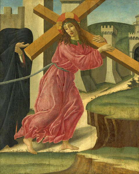 Botticelli Wall Art - Painting - Christ Carrying The Cross by Sandro Botticelli and Studio