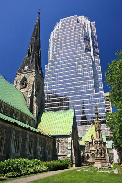 Photograph - Christ Church Cathedral Montreal by Pierre Leclerc Photography
