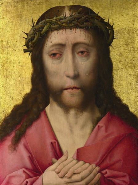 Redeemer Wall Art - Painting - Christ Crowned With Thorns, Diptych by Dieric Bouts
