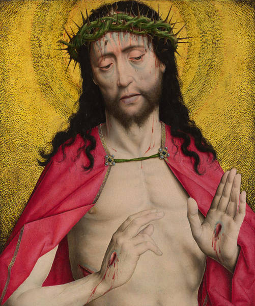 Man Of God Wall Art - Painting - Christ Crowned With Thorns by Dirck Bouts