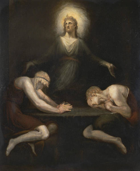 Painting - Christ Disappearing At Emmaus by Henry Fuseli