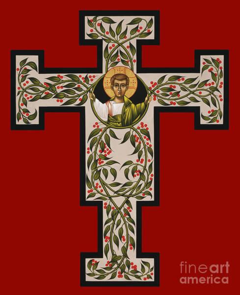 Painting - Christ Emmanuel Flowering Cross 018 by William Hart McNichols