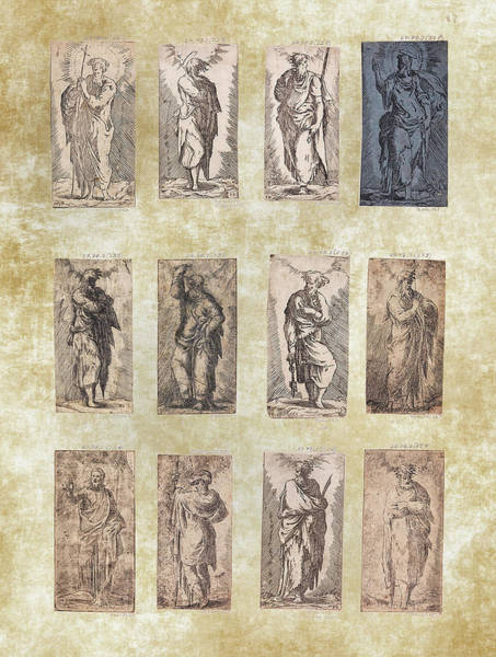Photograph - Christ And The Twelve Apostles - Etched By F. P.  Master  by Doc Braham