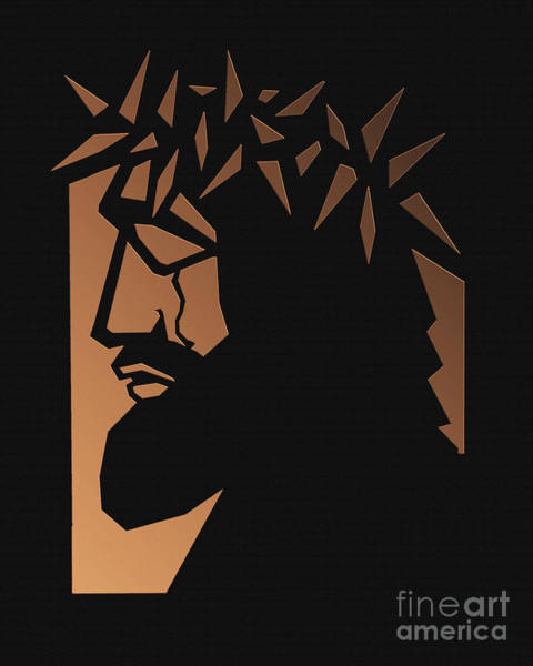 Glass Cutting Painting - Christ Hailed As King - Brown Glass - Dpckb by Dan Paulos