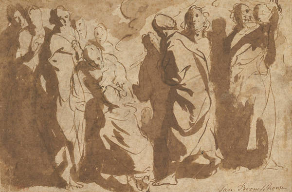 Healing Drawing - Christ Healing The Paralytic by Jacob Jordaens
