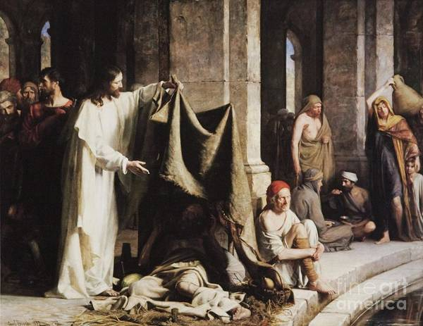 Sick Wall Art - Painting - Christ Healing The Sick At The Pool Of Bethesda by Carl Heinrich Bloch