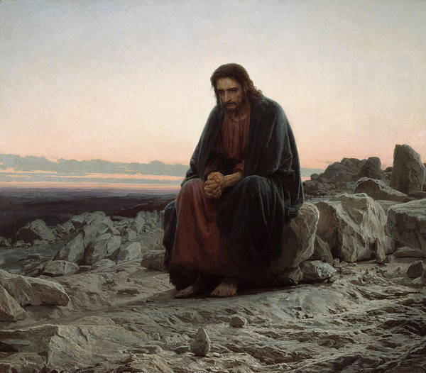 Painting - Christ In The Desert by Ivan Kramskoi