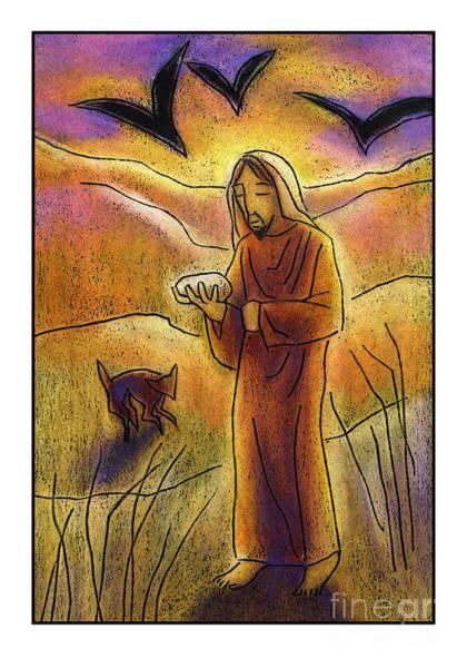 Painting - Christ In The Desert - Jlcid by Julie Lonneman