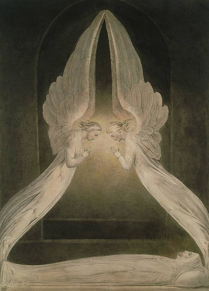 Painting - Christ In The Sepulchre, Guarded By Angels by William Blake
