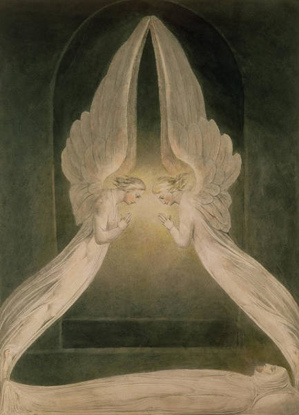 Christ In The Sepulchre Guarded By Angels Art Print