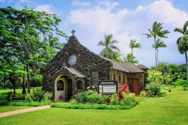 Photograph - Christ Memorial Episcopal Church In Kauai by Lynn Bauer