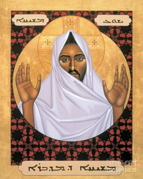 Painting - Christ Of The Desert - Rlcod by Br Robert Lentz OFM