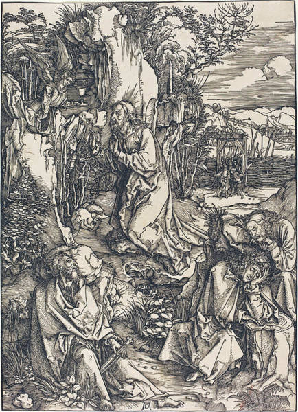 Drawing - Christ On The Mount Of Olives by Albrecht Durer