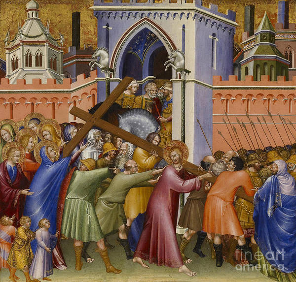 Wall Art - Painting - Christ On The Way To Calvary by Giovanni di Paolo di Grazia