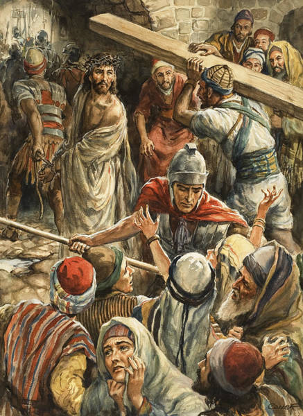 Wall Art - Painting - Christ On The Way To His Crucifixion by Henry Coller