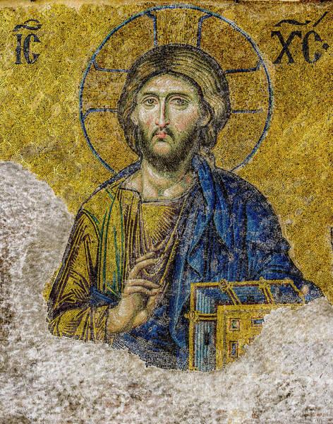 Pantocrator Photograph - Christ Pantocrator - Byzantine Artwork by Art Phaneuf