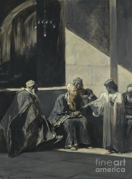 Wall Art - Painting - Christ Teaching In The Temple by Benjamin Constant
