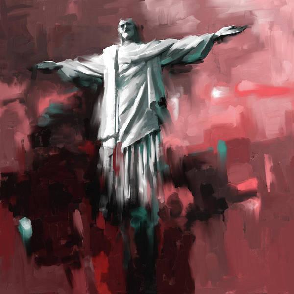 Redeemer Wall Art - Painting - Christ The Redeemer 429.2 by Mawra Tahreem